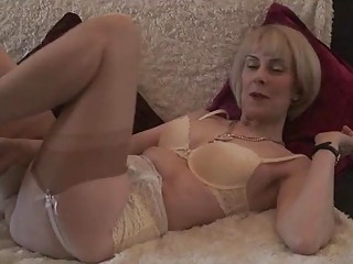 cougar lingerie shaggy pussy play