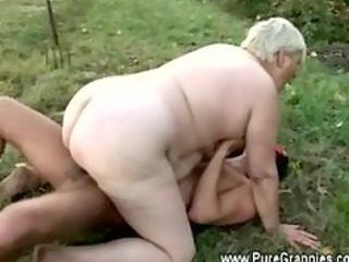 elderly rides young penis