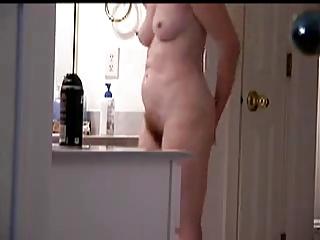 shaggy woman on spy cam