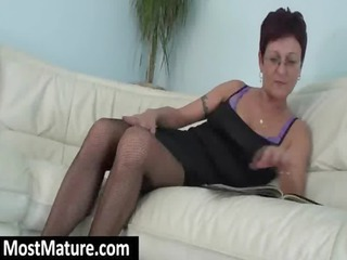 milf masturbating pussy on the armchair