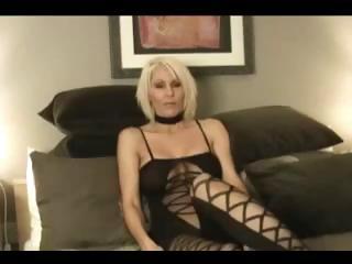 grown-up pale lady jan b wears a sweet black