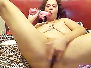 horny brown babe nympho pleases and screams