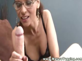 hot naughty older with glasses jacking libido and