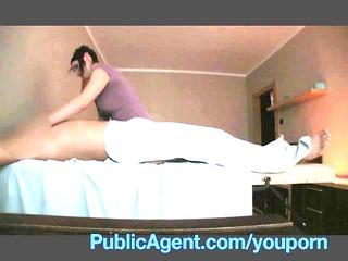 publicagent gang-banging the masseur older chick