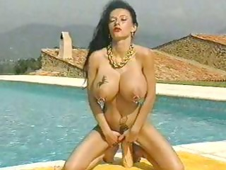 grown-up girl with giant fucked breast and