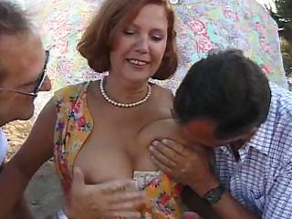 mature slut susan takes on two hard libidos and