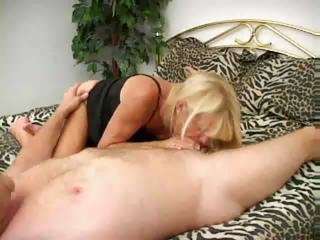 cougar tanned blond in act
