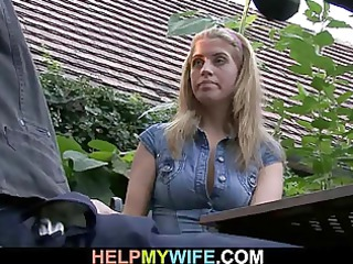 elderly hubby watches him gangbangs his super lady