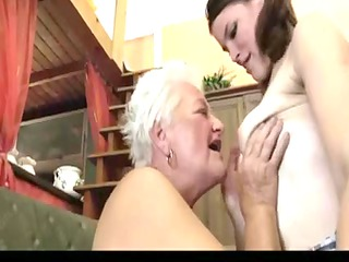 elderly teaching how to be lesbo two
