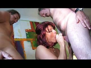 large titted mature blows and gang-bangs