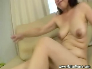 rubbing older maikos hairy hole