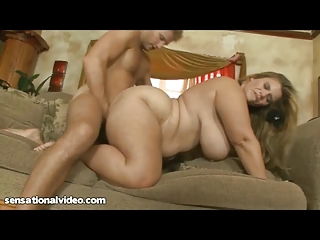 stunning bbw woman gets vagina gang-banged by