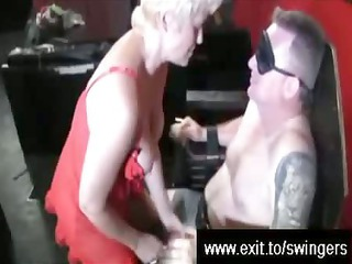 swinger suprise for bleached mom tracey