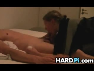 bbw maiden gives blowjob and handjob