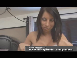 woman obtain facial with pantie on face