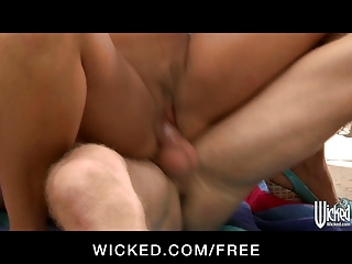 wicked - big-boobed brunette mature babe lisan
