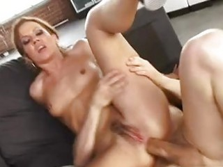 albino brunette babe with furry clit split takes