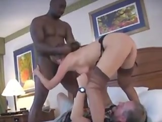 lady receives a tag team-implacable boner