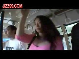 desperate slut enjoys drilled by geek on bus 01