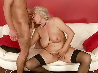 naughty male piercing slutty grandma