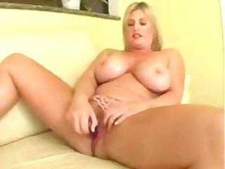 fat pale girl lets his big bonbon stick destroy