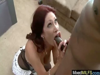 awesome busty mature babe enjoy huge brown cock