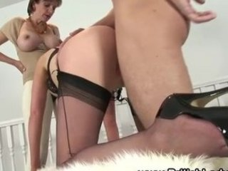 grown-up italian obsess femdom copulate three