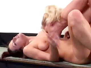 grown-up lady masturbating with homosexual women