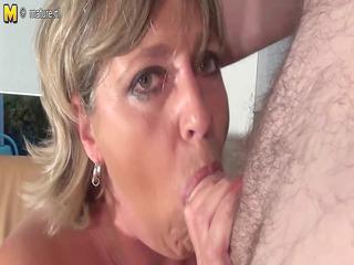 giant breasted grandma monieka takes down and