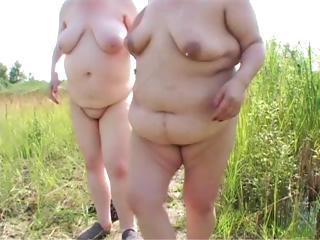 two plump mature homosexual women