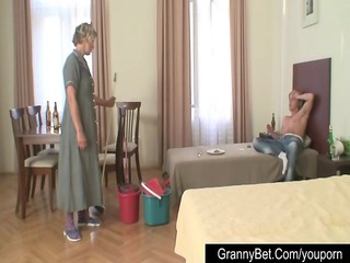 amateur boy fucks grownup cleaning lady