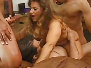pale milf obtains two by two libidos at once