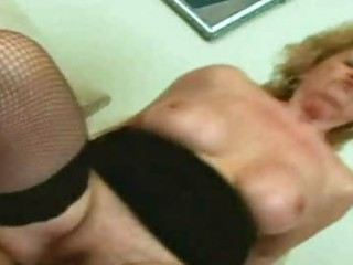 blond old licking and gang-banging a libido in