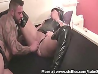 brutally fisting my wifes giant bitch till she