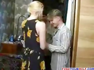 horny chick with two amateur dudes