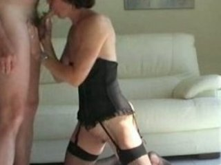 horny older licks hubbys cock and acquires defaced