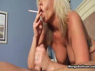 older mature smoking fellatio