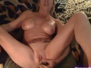 sexy desperate mature babe kat stuffing g-string