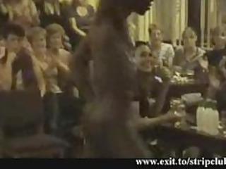 spying slutty milfs in strippers restaurant