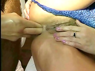 mum enjoys cock, hand inside anal &; cave