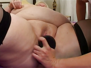 bbw lesbian with inexperienced lady