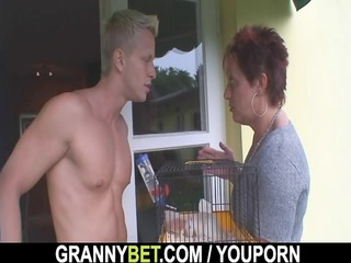 hot guy screws neighbour elderly