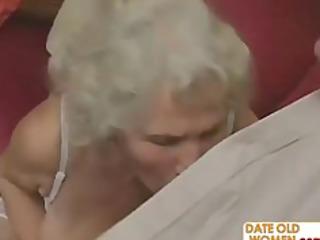 desperate grandma felt up and fucked hard