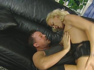 bleached german lady gets pierced