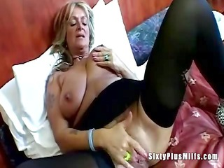 giant tit elderly masturbating pussy