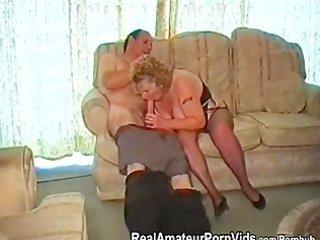 a heavy elderly has fuck with her fucker