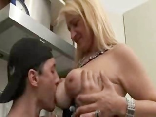 european babe and son