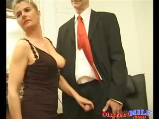 businessmen bunch gang-banging dirty mature babe