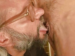 awesome grandma has sex with her old lover