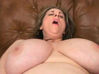 heavy pale woman with a pair of huge droopy